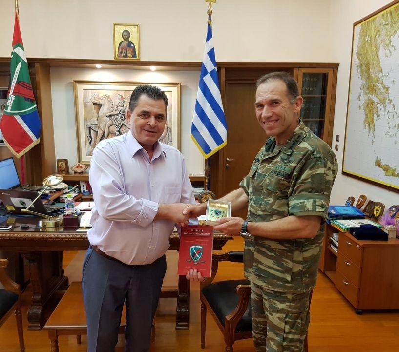 Τον διοικητή της Ι Μεραρχίας Υποστράτηγο Πέτρο Δεμέστιχα επισκέφθηκε ο Αντιπεριφερειάρχης Ημαθίας