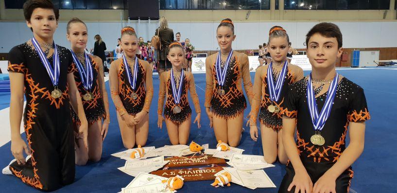 Γεμάτοι μετάλλια και σημαντικές διακρίσεις επέστρεψε η αγωνιστική  ομάδα Ακροβατικής Γυμναστικής του Φίλιππου Βέροιας από τους Διασυλλογικούς Αγώνες Β΄περιφέρειας