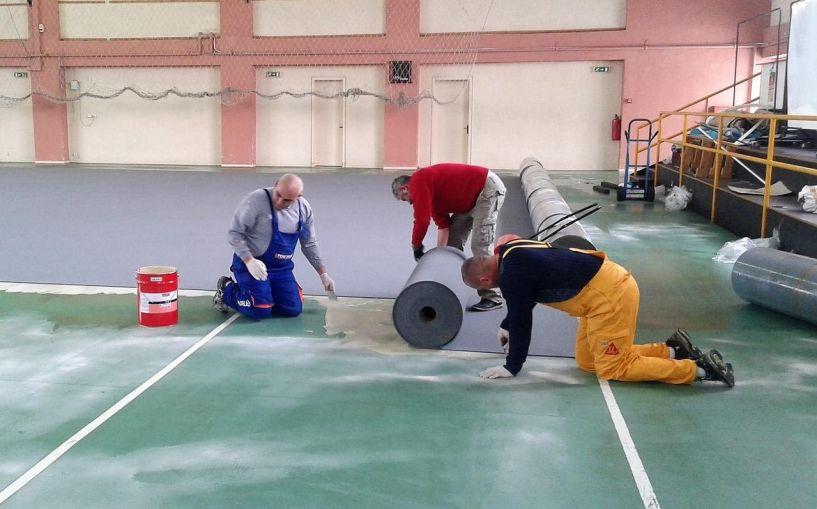 Ξεκίνησαν οι εργασίες για την υλοποίηση του Έργου «Επανακατασκευή δαπέδου κλειστού γυμναστηρίου 2ου Γυμνασίου - Λυκείου Αλεξάνδρειας»