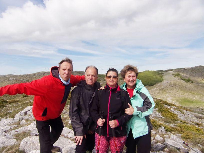 Στην κορυφή Φούρκα (1561 μέτρων) με τους Ορειβάτες Βέροιας