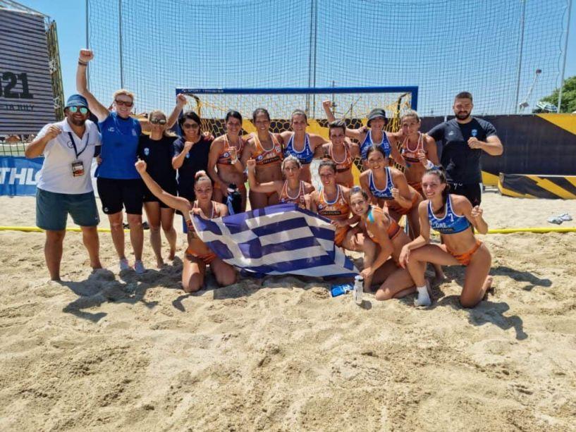 Φινάλε στο EURO Beach Handball . Στην 9η θέση οι γυναίκες στην 16η οι άνδρες