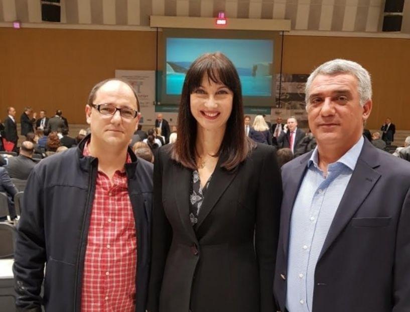 Ο Τάσος Γιάγκογλου στην τελετή εγκαινίων της Philoxenia 2017. Συνάντηση με την υπουργό Τουρισμού