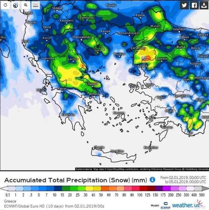 Έρχεται χιονιάς «τέρας» - Θα το στρώσει και στην Ημαθία!