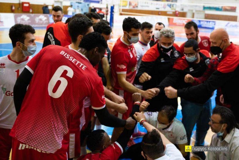 Hellenic Volleyball League . Με νίκη και 3-1 σετ ξεκίνησε ο Φίλιππος επί του ΟΦΗ για τα πλει άουτ