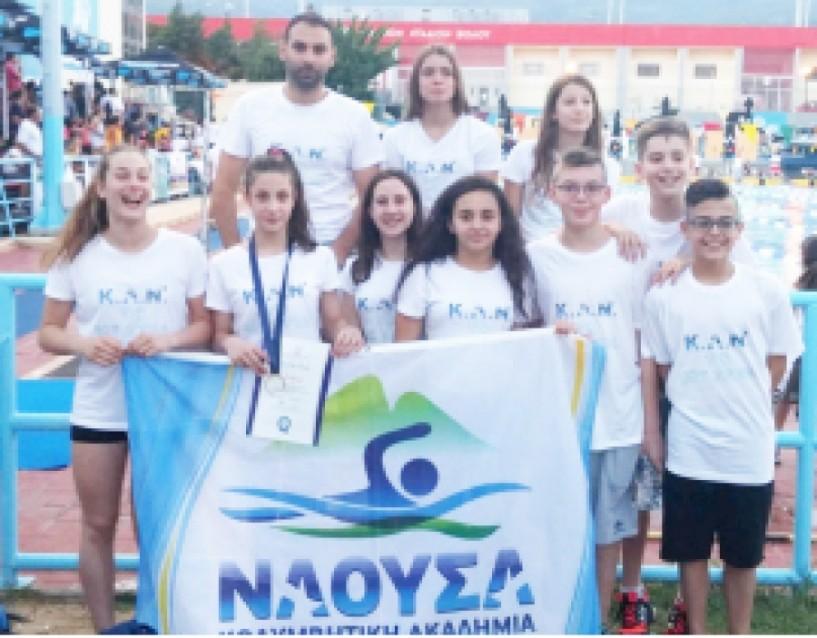 Ρεκόρ, μετάλλια και όριο προεθνικής για την Κολυμβητική Ακαδημία «ΝΑΟΥΣΑ» στο Πανελλήνιο Πρωτάθλημα