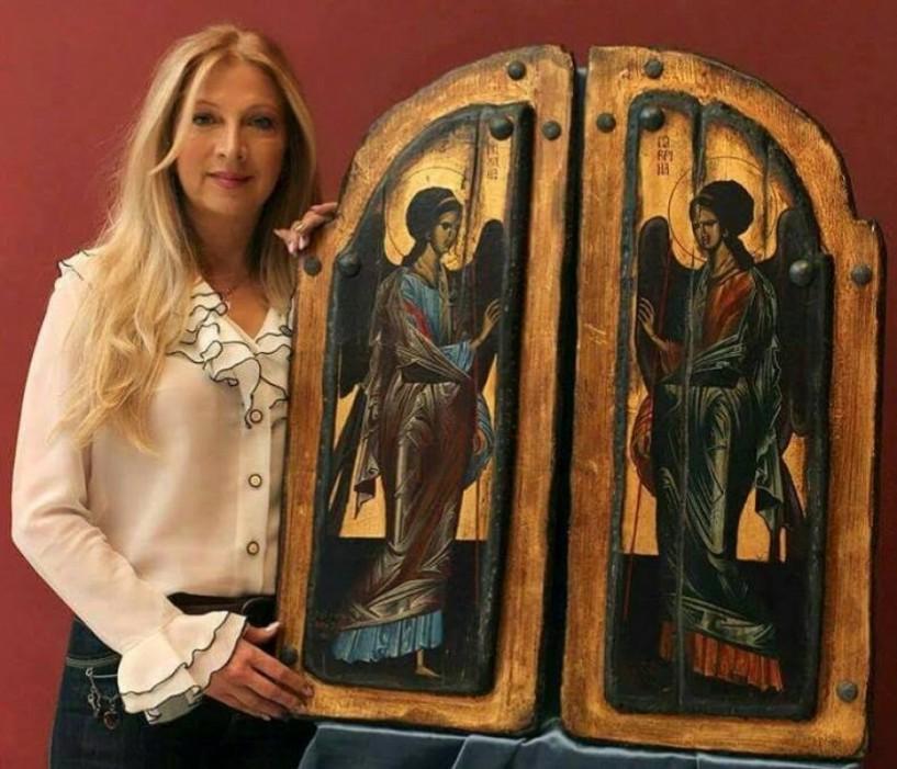 Και στο Ζάππειο Μέγαρο με αγιογραφίες της η Λίλα