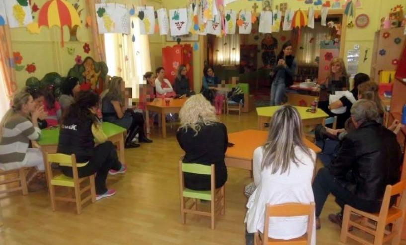 Υγιεινή, διατροφή και προστασία των παιδιών από τις ιώσεις σε ομιλία στον παιδικό σταθμό Αγγελοχωρίου