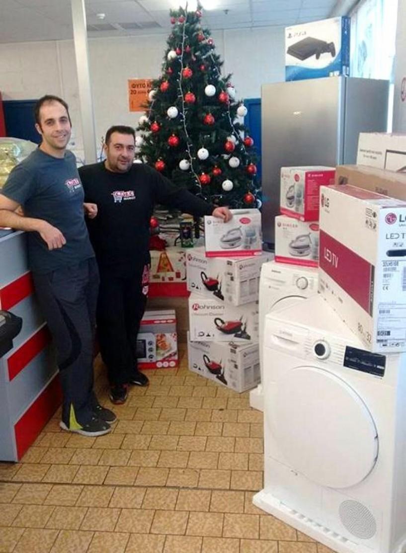 Γιορτινός διαγωνισμός με μεγάλα δώρα στο σούπερ μάρκετ Contra
