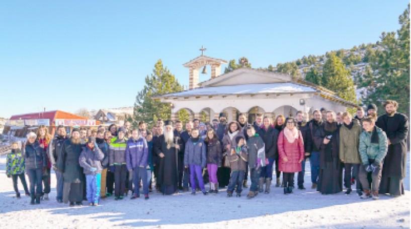 Οι Χιονοδρόμοι τίμησαν  στο Σέλι, τον Άγιο Σεραφείμ