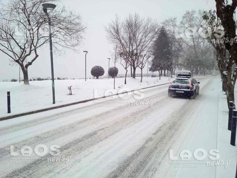 Λευκό σεντόνι από το πρωί στη Βέροια- Αλυσίδες και μέσα στην πόλη! (ΦΩΤΟΓΡΑΦΙΕΣ & ΒΙΝΤΕΟ)