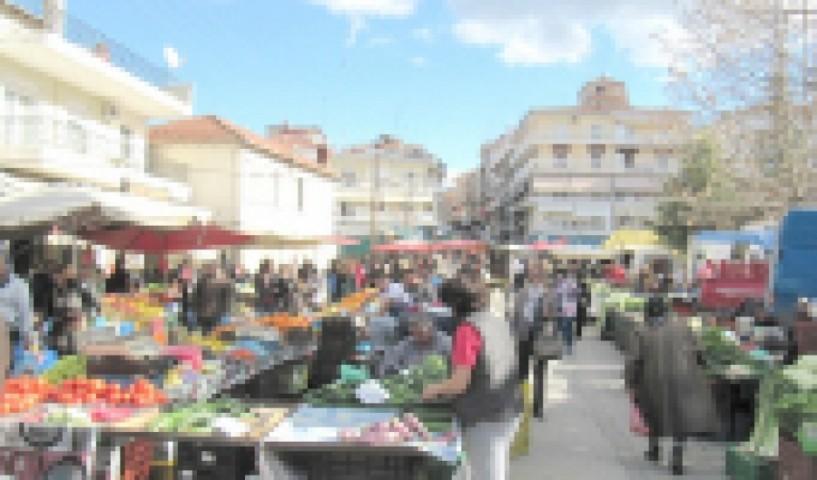Για το διάστημα της κακοκαιρίας  - Απαλλαγή από το ημερήσιο τέλος   συμμετοχής των πωλητών Λαϊκών Αγορών ζήτησε η Περιφέρεια Κεντρ. Μακεδονίας
