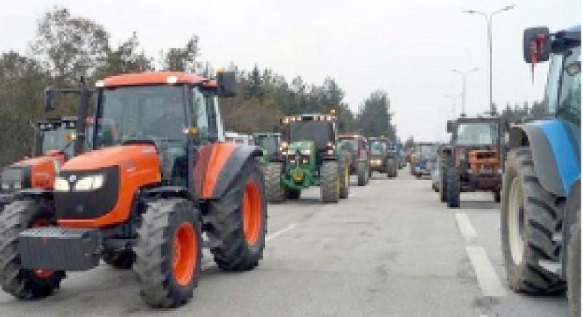 Πορεία αγροτών   της Αλεξάνδρειας στα σύνορα των Ευζώνων