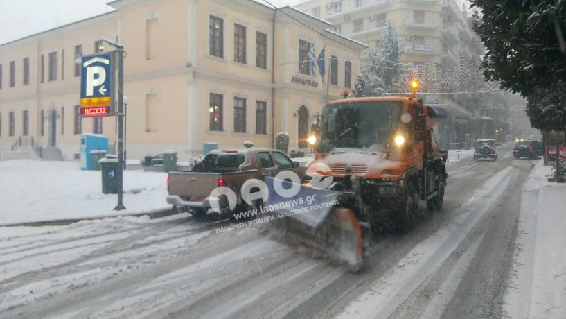 Πεντέμισι χιλιάδες τόνοι αλάτι στους δρόμους της Κ.Μακεδονίας τις ημέρες της κακοκαιρίας