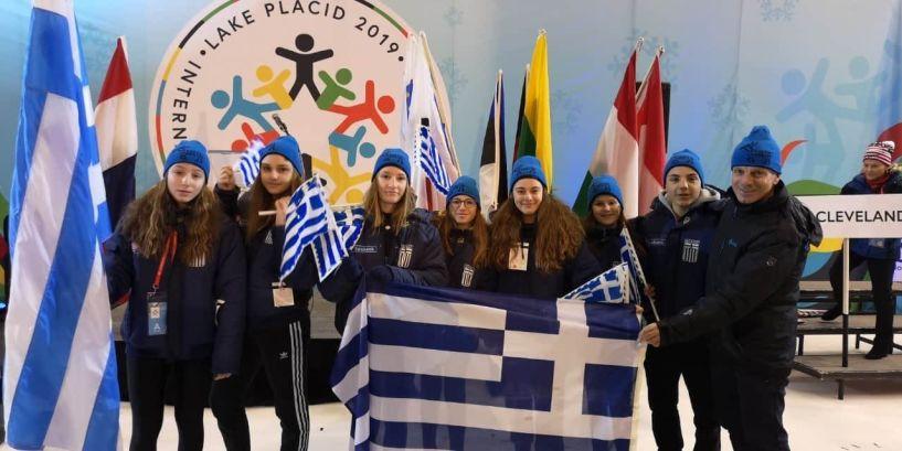 Η ελληνική σημαία και η Νάουσα στους διεθνείς αγώνες πόλεων στο Lake Placid των ΗΠΑ