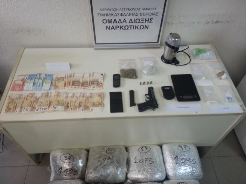 Άνδρες του Α.Τ. Βέροιας συνέλαβαν στη Θεσσαλονίκη Αλβανό και Έλληνα για κατοχή και διακίνηση μεγάλων ποσοτήτων ναρκωτικών