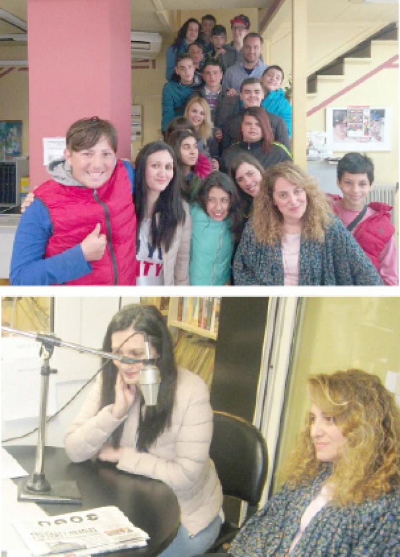 """Μαθητική επίσκεψη στο """"Λαό""""  και τον  """"Άκου 996""""  - Πάνω από 40 παιδιά εκπαιδεύονται φέτος στο Επαγγελματικό  Γυμνάσιο - Λύκειο Βέροιας (ΒΙΝΤΕΟ)"""