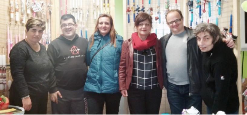 Το πασχαλιάτικο bazaar του Υφαδιού επισκέφθηκε  η Φρόσω Καρασαρλίδου