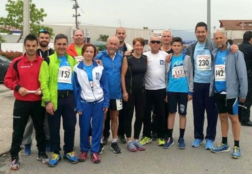 Αθλητές του ΣΕΒΑΣ Νάουσας στον 2ο αγώνα των 21 μαθητών στο Μακροχώρι
