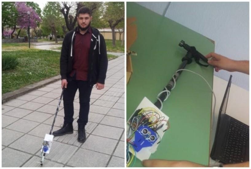 16χρονος μαθητής από την Ημαθία κατασκεύασε το πρώτο έξυπνο μπαστούνι για τυφλούς