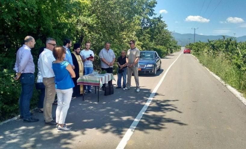 Αγιασμός του δρόμου στη θέση ΄Ράμνιστα΄ Λευκαδίων