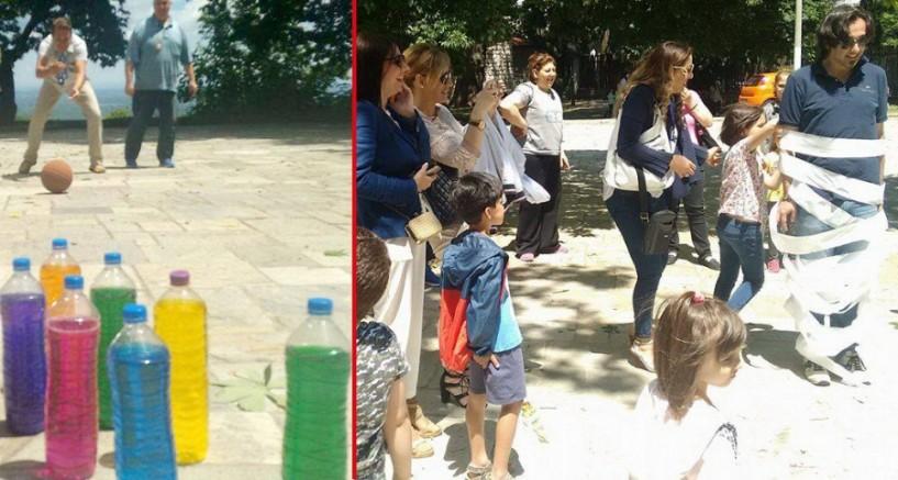 Με πολύ παιχνίδι, γέλιο και χαρά η γιορτή του πατέρα στο πάρκο της Νάουσας - BINTEO