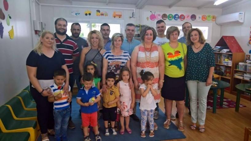 Αγιασμός στον νέο παιδικό σταθμό Στενημάρχου και στο έργο του Ροδοχωρίου από τον δήμο Νάουσας