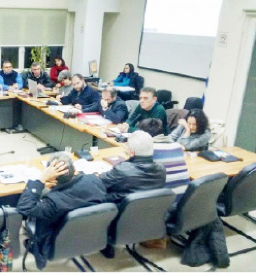 Εργαζόμενοι ΕΤΑ, αξονικός και ΔΕΥΑΝ  στο χθεσινό Δημοτικό Συμβούλιο Νάουσας