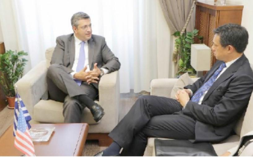 Με τον αναπληρωτή  βοηθό υπουργό εξωτερικών των ΗΠΑ συναντήθηκε  ο Απ. Τζιτζικώστας