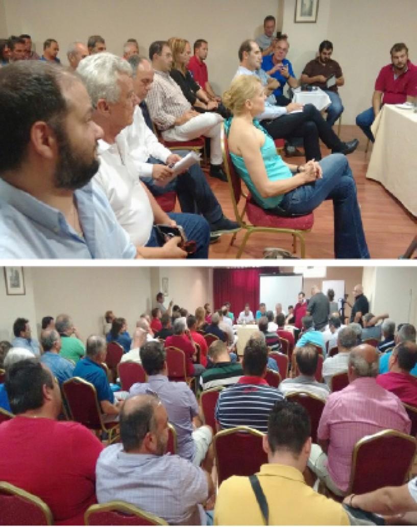 Ηχηρό μήνυμα από όλους προς τον ΕΛΓΑ για στήριξη  και αποζημιώσεις των ροδακινοπαραγωγών στη χθεσινή  συνέλευση της Συντονιστικής Ημαθίας - Πέλλας στη Βέροια