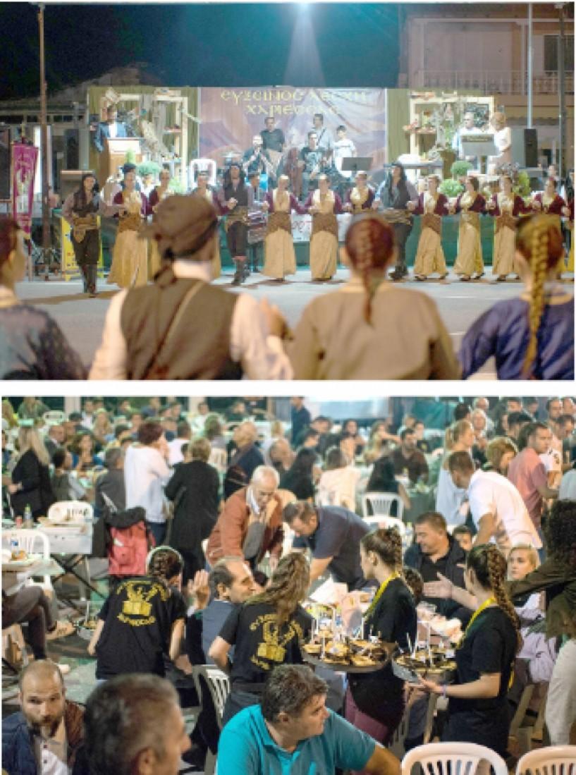 Χιλιάδες επισκέπτες  και εκατοντάδες χορευτές  στην 3η Γιορτή Γης στη Χαρίεσσα