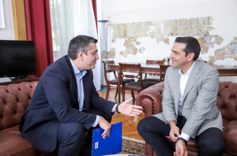 Θέματα της Περιφέρειας Κεντρικής Μακεδονίας αλλά και απορρόφησης ευρωπαϊκών κονδυλίων στη χθεσινή συνάντηση Τσίπρα-Τζιτζικώστα