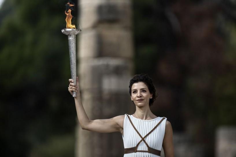 Επιτυχημένη η πρόβα τελετής αφής της Ολυμπιακής Φλόγας στην Αρχαία Ολυμπία