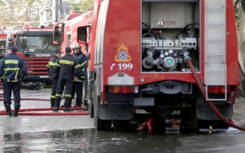 Φωτιά σε τουριστικό λεωφορείο στην Πιερία