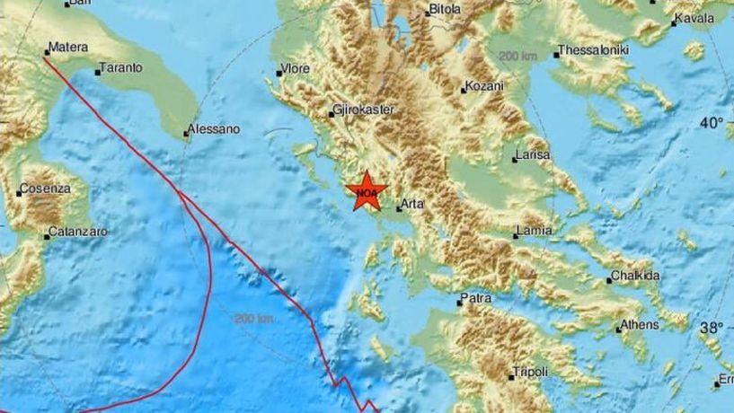 Ισχυρός σεισμός στην Πάργα - Αισθητός σε πολλές περιοχές της χώρας