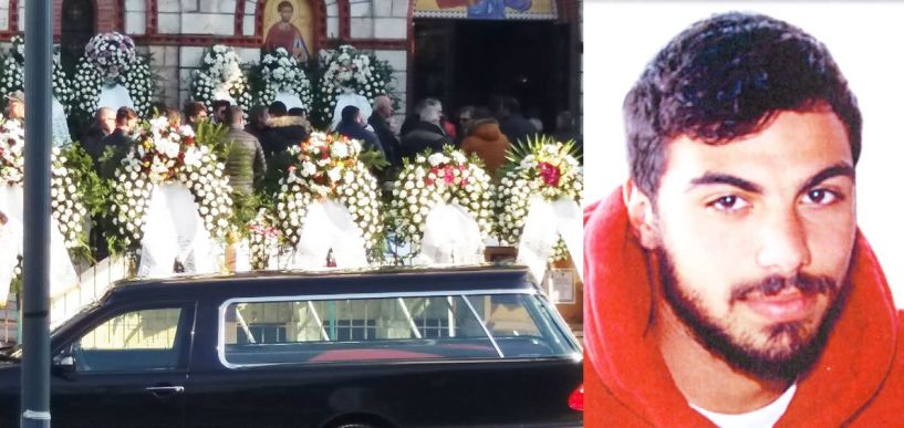 Οδύνη και βουβός θρήνος στην κηδεία του 22χρονου χαντμπολίστα Άκη Ψωμιάδη