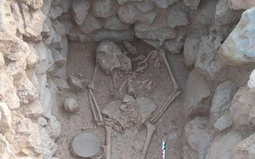 Άθικτος σκελετός γυναίκας βρέθηκε σε  ανασκαφή στο Λασίθι της Κρήτης
