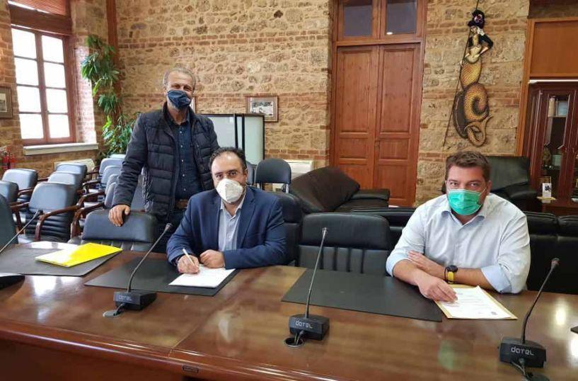 Υπογραφή σύμβασης για το «Αρδευτικό δίκτυο οικισμού Μέσης Δήμου Βέροιας»