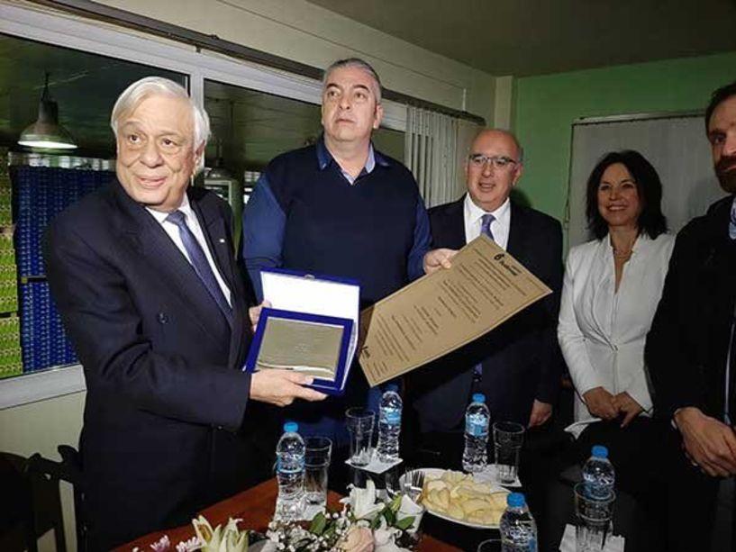 O πρόεδρος της Δημοκρατίας Πρ. Παυλόπουλος στους συνεταιρισμούς ΑΣΕΠΟΠ και ΔΗΜΗΤΡΑ