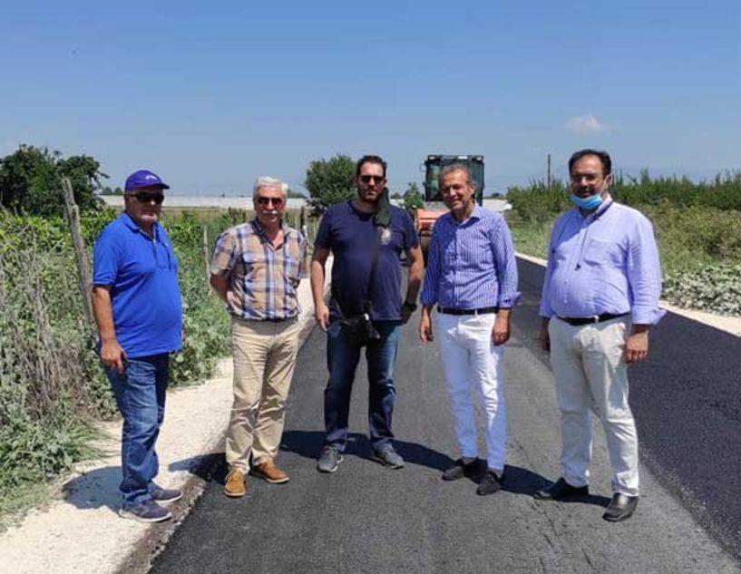 Ολοκληρώθηκε η Ασφαλτόστρωση του αγροτικού δρόμου στον Άγιο Γεώργιο Βέροιας