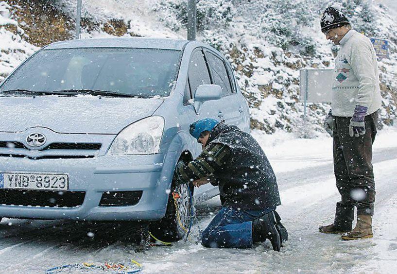 Η κατάσταση στο οδικό δίκτυο της Ημαθίας. Με αλυσίδες για χιονοδρομικά και Πιέρια