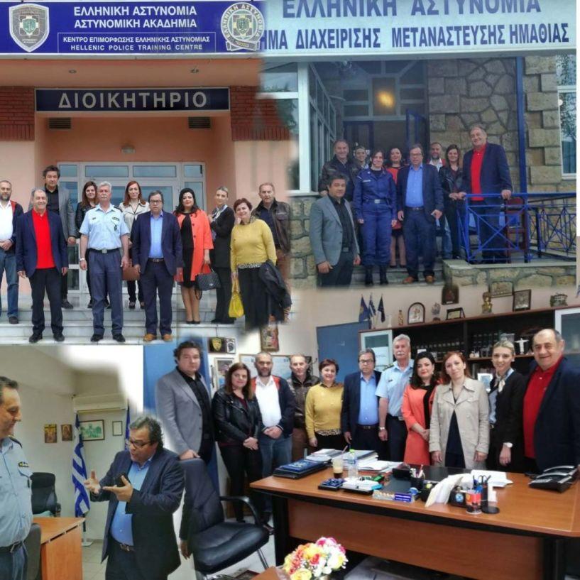Επίσκεψη του Αντώνη Μαρκούλη στις Αστυνομικές Αρχές