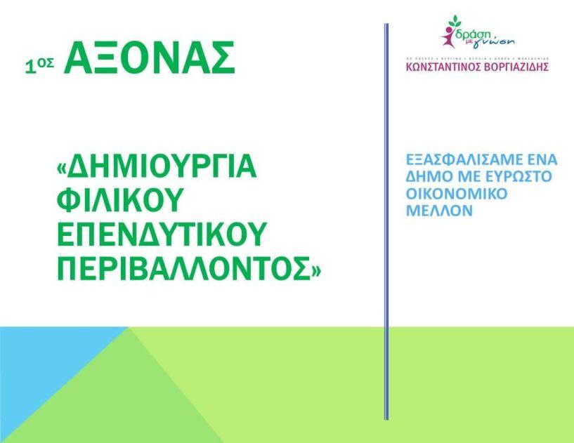 Κώστας Βοργιαζίδης: 1ος άξονας - Απολογισμός 2014-2019 - Δημιουργία φιλικού επενδυτικού περιβάλλοντος