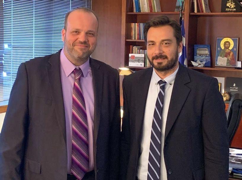 Ο βουλευτής Ημαθίας Τάσος Μπαρτζώκας συναντήθηκε με τον Διοικητή του ΟΑΕΔ