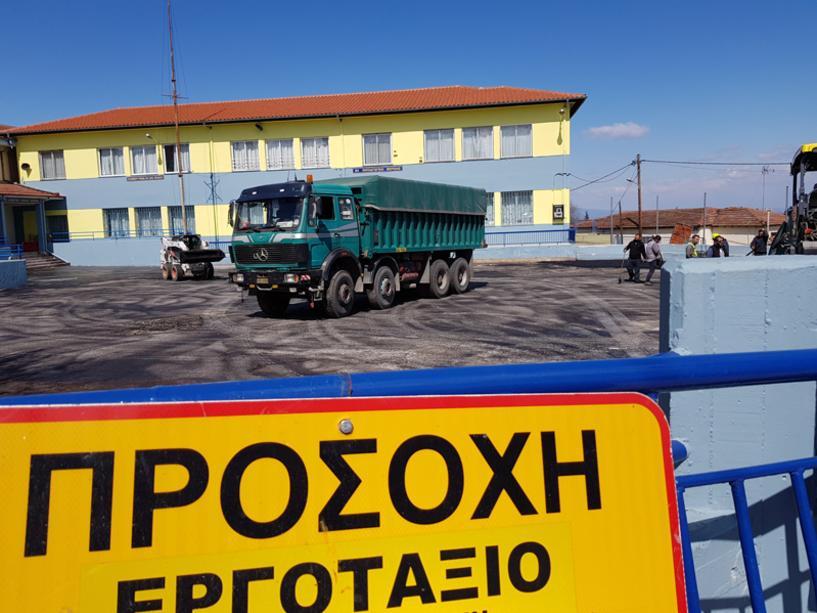 Εργασίες ανάπλασης σχολικών αυλών του Δήμου Βέροιας (Εικόνες)