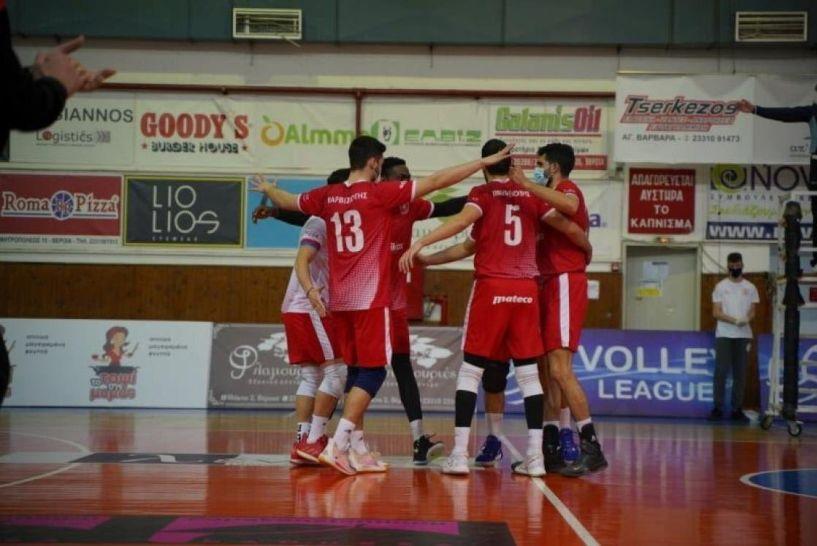 Volley League. Με νίκη 3-0 σετ επί του ΟΦΗ επέστρεψε η ομάδα του Φιλίππου Βέροιας