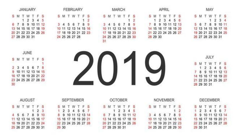 Πότε πέφτουν οι Αργίες του νέου έτους