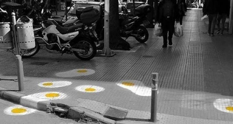 Δρόμοι στη Θεσσαλονίκη γέμισαν με... «τηγανητά» αυγά!
