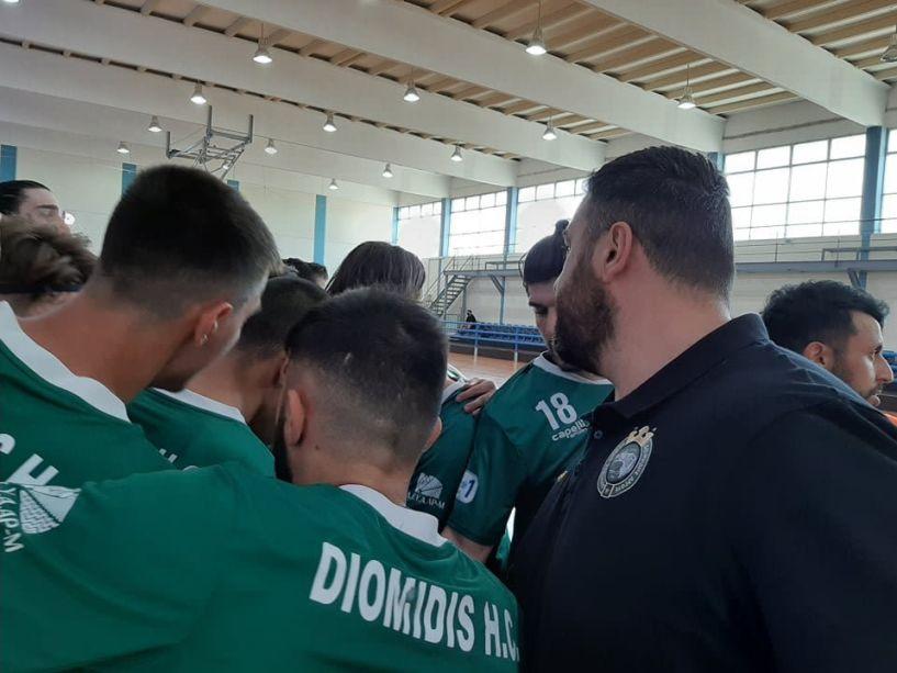 Νίκη στο φινάλε για τον Διομήδη 26-22 την Δράμα για τα πλέι οφ της Handball Premier.