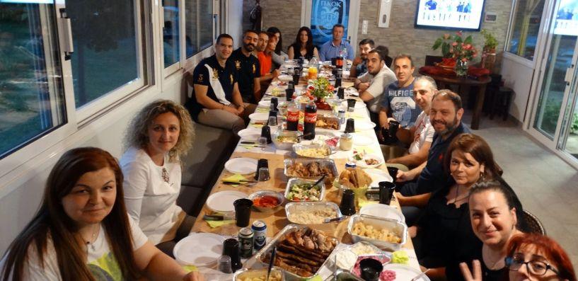 Δείπνο σε τεχνικό επιτελείο και αθλητές των Αετών Βέροιας από τον Πρόεδρο Σίμο Γαβριηλίδη