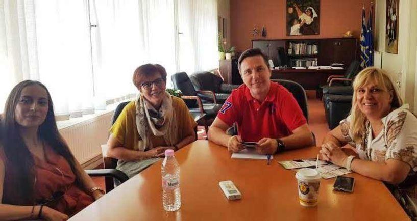 Συνάντηση του  «Έρασμου» με τον Δήμαρχο Νάουσας Νικόλα Καρανικόλα